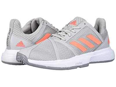 adidas CourtJam Bounce (Grey Two/Signal Coral/Grey Three) Women