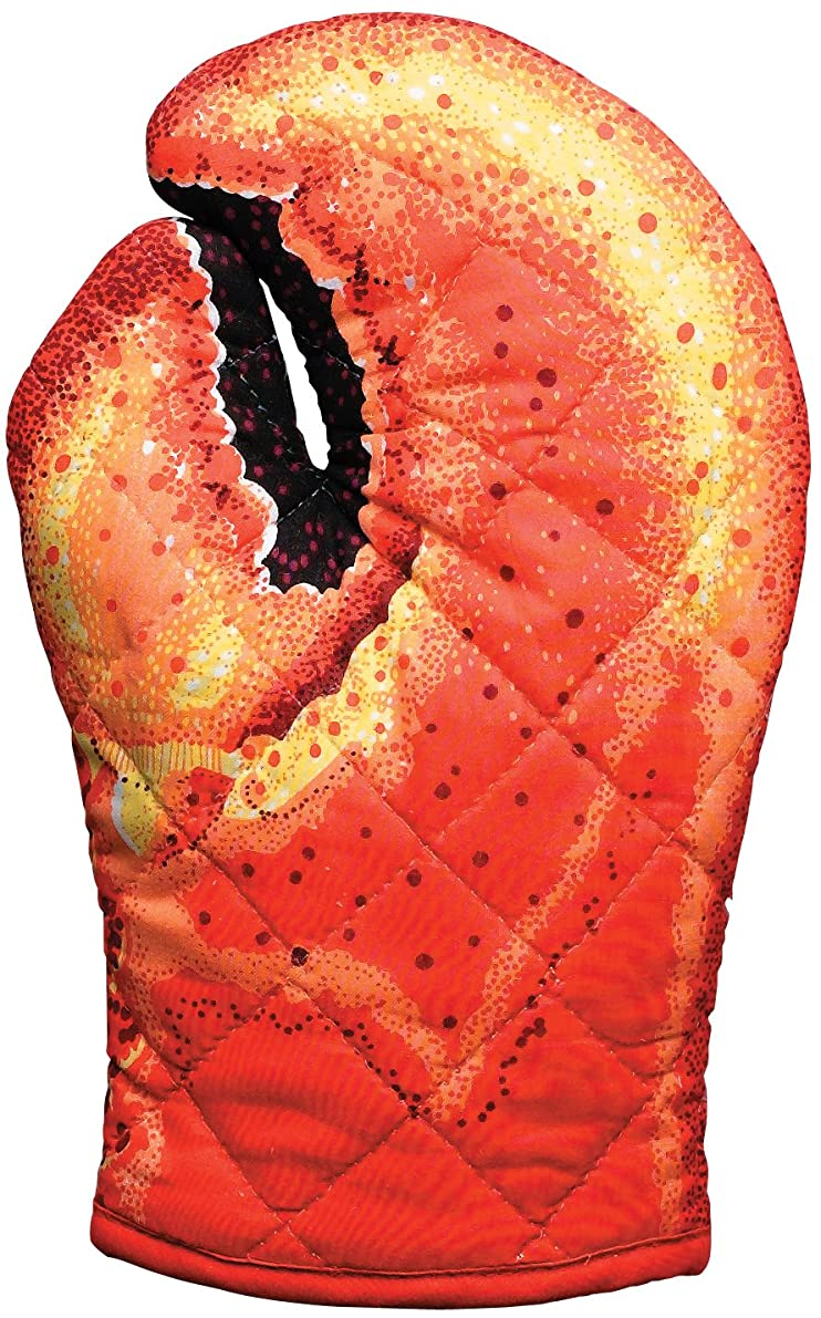 Lobster Claw Oven Mitt, Quilted Cotton, Designed for Light Duty Use, by Boston Warehouse