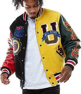 Smoke Rise Unisex All Star Varsity Jacket Hipster Urban NYC Utility Outerwear, Fur Jacket and MA1 Jacket