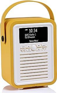 VQ Retro Mini DAB+ Digital Radio with FM, Bluetooth & Alarm Clock, Mustard, (VQ-Mini-MD/AUS)
