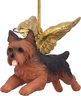 Best Design Toscano JH170737 Christmas Tree Ornaments - Honor The Pooch Yorkie Holiday Angel Dog Ornaments,Multi Review