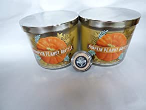 B Bath and Body Works Pumpkin Peanut Brittle 3 Wick Candle lot of 2 bareMineral Mineral Veil .57gr