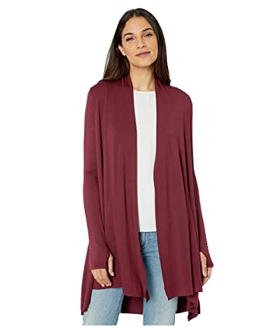 LAmade Iris Lightweight Modal Terry Cardigan with Thumbholes (Wineberry) Women
