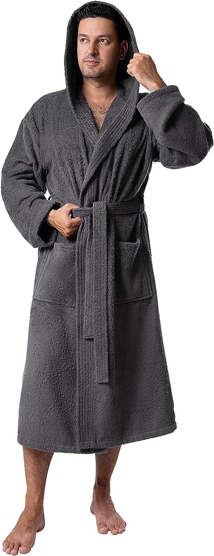 Men's Robe, Non-GMO Turkish Cotton Soft Terry Kimono Bathrobe