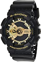 Casio G-Shock Resin Black Dial Analog-Digital Watch for Men - GA-110GB-1ADR