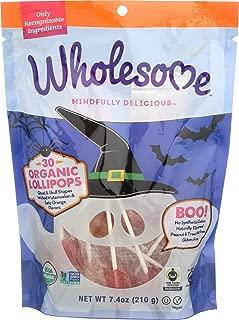 Wholesome, Lollipops Halloween Organic, 7.4 Ounce