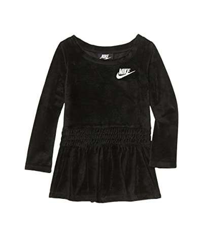 Nike Kids Sportswear Velour Dress (Toddler) (Black) Girl