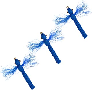 Thor Outdoor Blue Dragonfly - 3 Pc Topwater Fly Fishing Set for Bass, Panfish, Trout - Hook Size 10