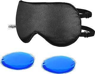 Premium avec einsetzbarem de refroidissement et de/ Chambre /à coucher Masque de Yeux de refroidissement 20/x 8/cm Couleur: noir ou blanc au choix. /Coussin chauffant