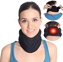 بریس گردن گرمایش الکتریکی مغناطیسی برای درد گردن و پشتیبانی- دستگاه کشش یقه گردنی- گرمتر گردن برای گردن سفت - 3 در 1 پشتیبانی که درد ، استرس ، اضطراب و سردرد را تسکین می دهد.