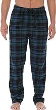 Gioberti Mens Yarn-Dye Brushed Flannel Pajama Pants, Elastic Waist