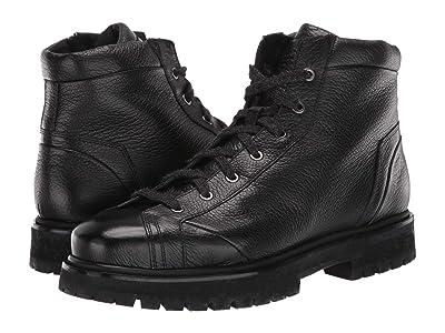 Santoni Mountain Lace-Up Boot (Black) Men