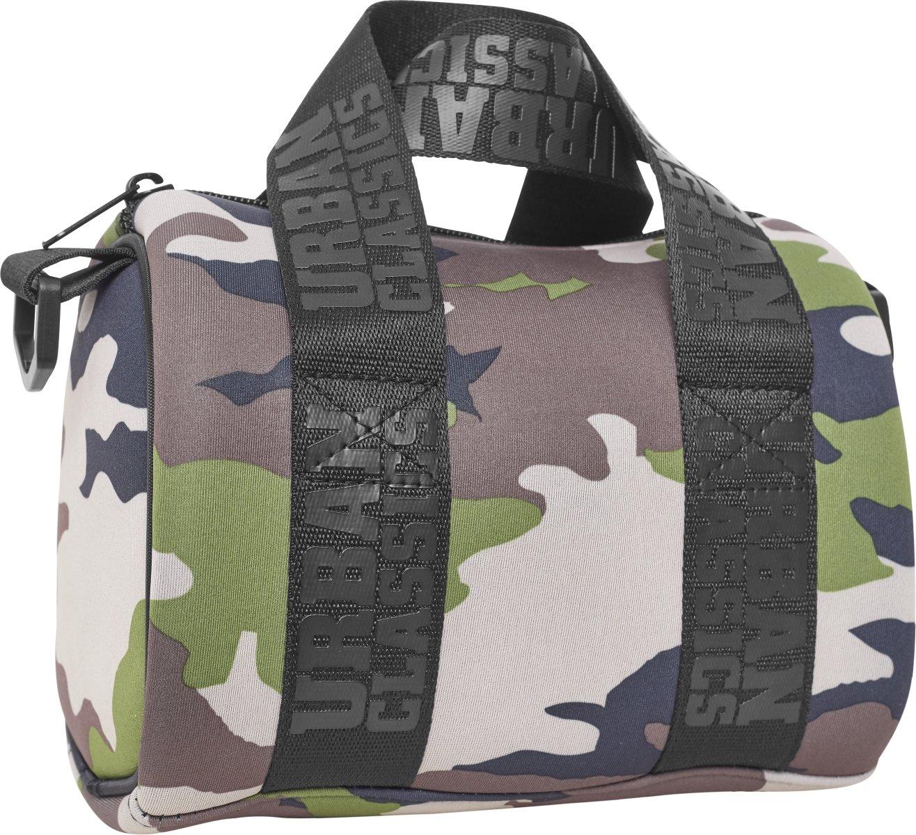 Urban Classics Handbag Mini Neoprene Sporttasche, 21 cm, Green Camo