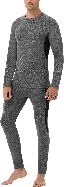 Runhit Mens Thermal Underwear Set Long Johns Pants Thermal Shirts for Men