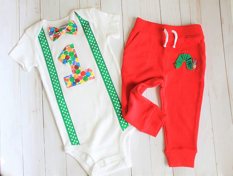 Caterpillar First New life Birthday Boy Outfit 5 ☆ popular
