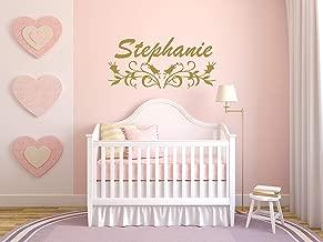 Vinyl Sticker Stephanie Name Girl Floral Font Type Kids Room Nursery Mural Decal Wall Art Decor EH939