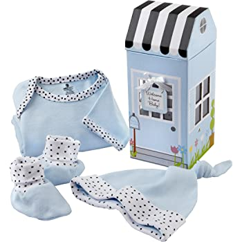 3-Piece 0-6 Months Baby Aspen Welcome Home Baby Layette Gift Set Blue