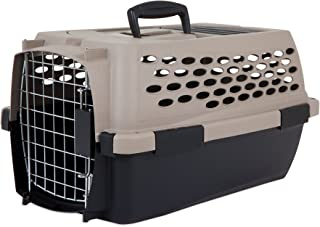 Petmate 21859 Vari 19-Inch Pets Kennel, Up to 10-Pound, Bleached Line IATA Airline Approved Carry Transport Boxn