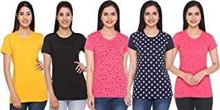 69GAL (105Women T-Shirt (Multicolors) (Pack of 5) (S/M/L/XL/3CL/5XL)