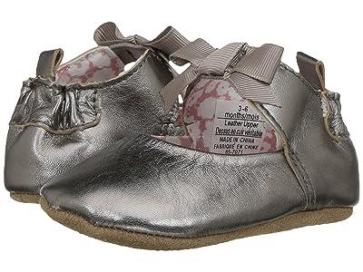 Robeez Amelia Ankle Strap First Kicks (Infant/Toddler) (Grey) Girl