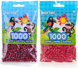 Perler Bead Bag 1000, Bundle of Cranapple and Cherry Red (2 Pack)