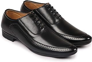 BUWCH Derby Lace Up Shoe for Men(Black)