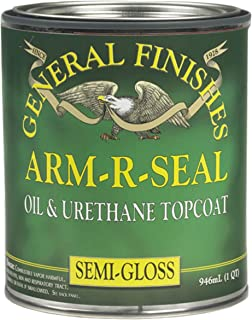General Finishes SGQT Arm-R-Seal Urethane Topcoat, Semi-Gloss, 1 Quart