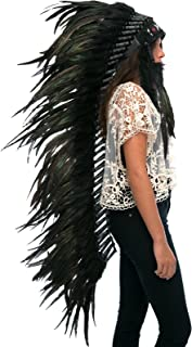 Adjustable! Extra Long Native American Indian Style Headdress | Many Colors