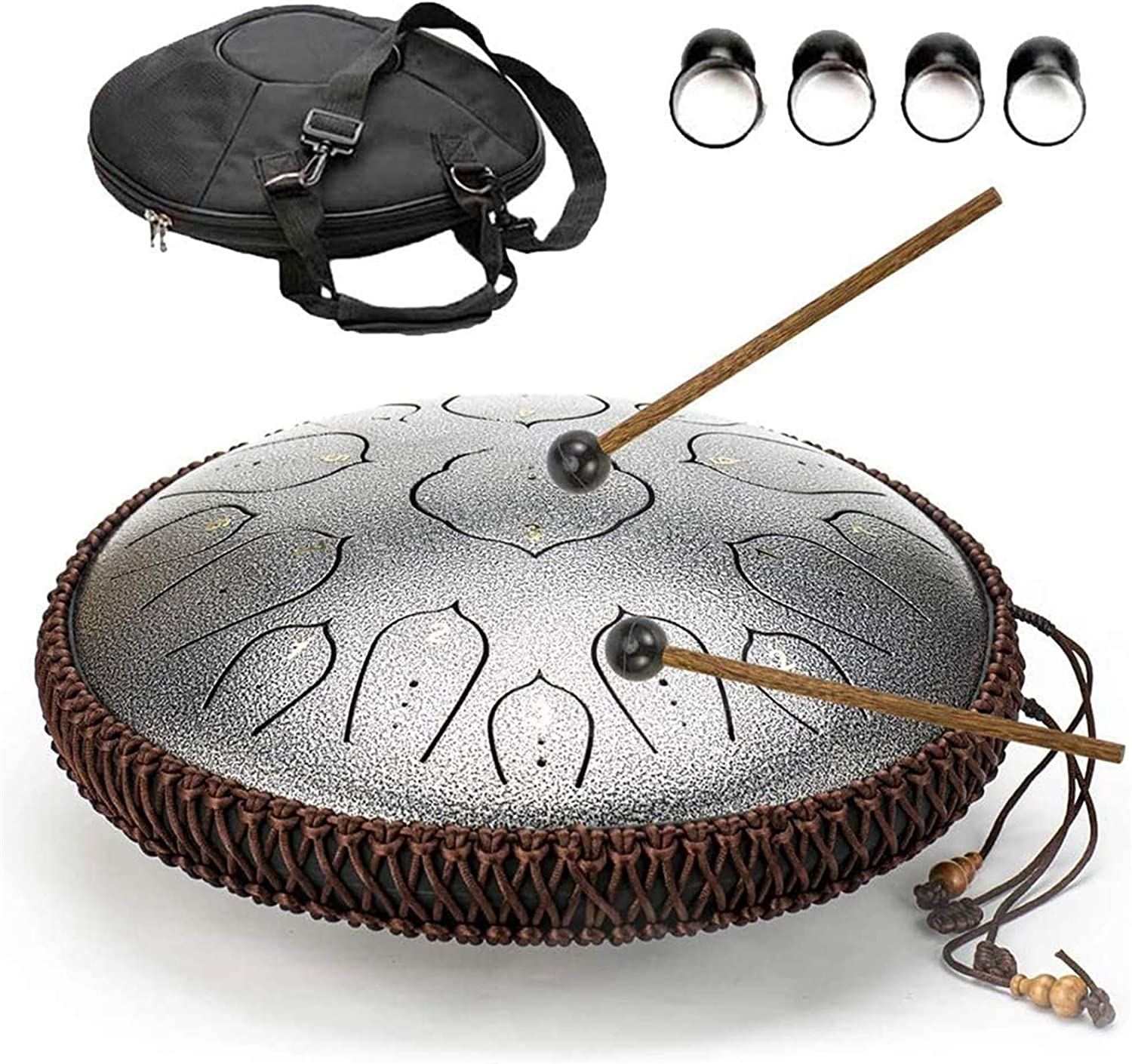 PIAOLIGN Steel Tongue Drum 15 Notes Manual Inch Shape Cymbal 14 Max 50% OFF 40% OFF Cheap Sale