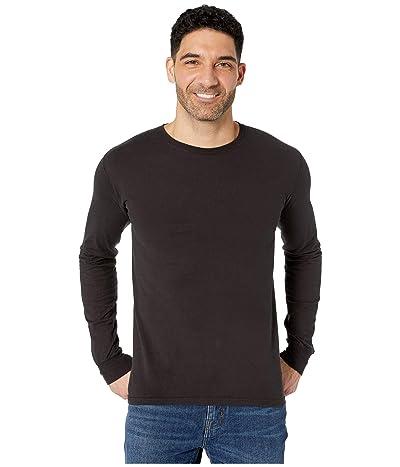 Hanes ComfortWashtm Garment Dyed Long Sleeve T-Shirt (Black) Clothing