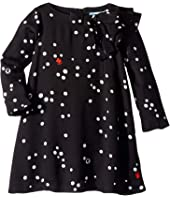 Lanvin Kids - Long Sleeve Polka Dot Dress with Ruffle Detail (Toddler/Little Kids)