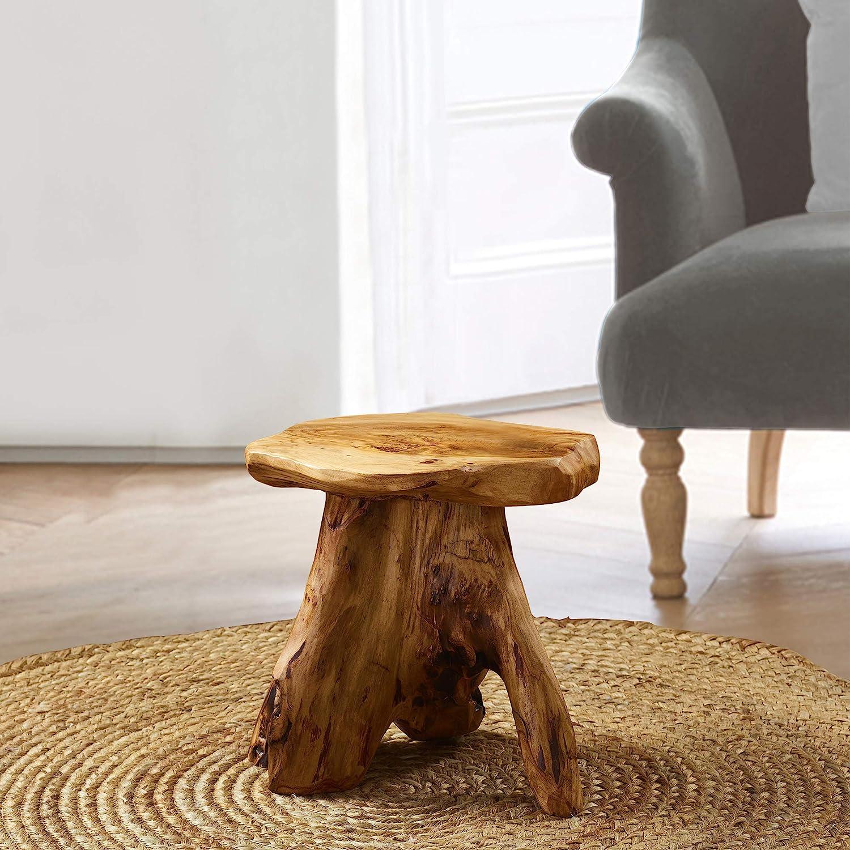 SEAL limited product supreme Greenage Cedar Roots Naturally Shaped Stool Side Table Mushroom