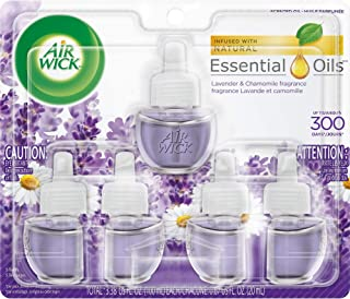 Air Wick Plug in Scented Oil 5 Refills, Lavender and Chamomile, (5x0.67oz), Essential Oils, Air Freshener