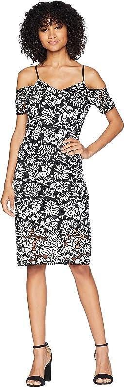 Bodycon Floral Lace Dress