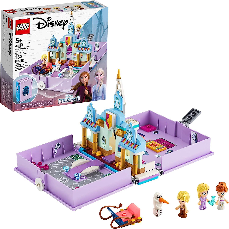 LEGO Disney Anna and Elsa's Storybook Adventures 43175 Creative Building Kit...