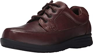 Men's Cam Moc Toe Oxford Casual Lace-Up with Comfort Gel Walking Shoe, Brown Tumbled, 10.5 Medium