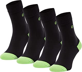 Natural Vibes, calcetines negros ecologicos para hombre pack 4 pares talla 41/46