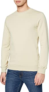 Urban Classics Men's Sweatshirt Basic Terry Crew Pullover Sweater, Vintage Blue, S