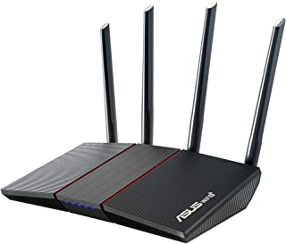 ASUS RT-AX55, AX1800 Dual Band WiFi 6 (802.11ax) Router supporting MU-MIMO and OFDMA technology, with AiProtection Classic...