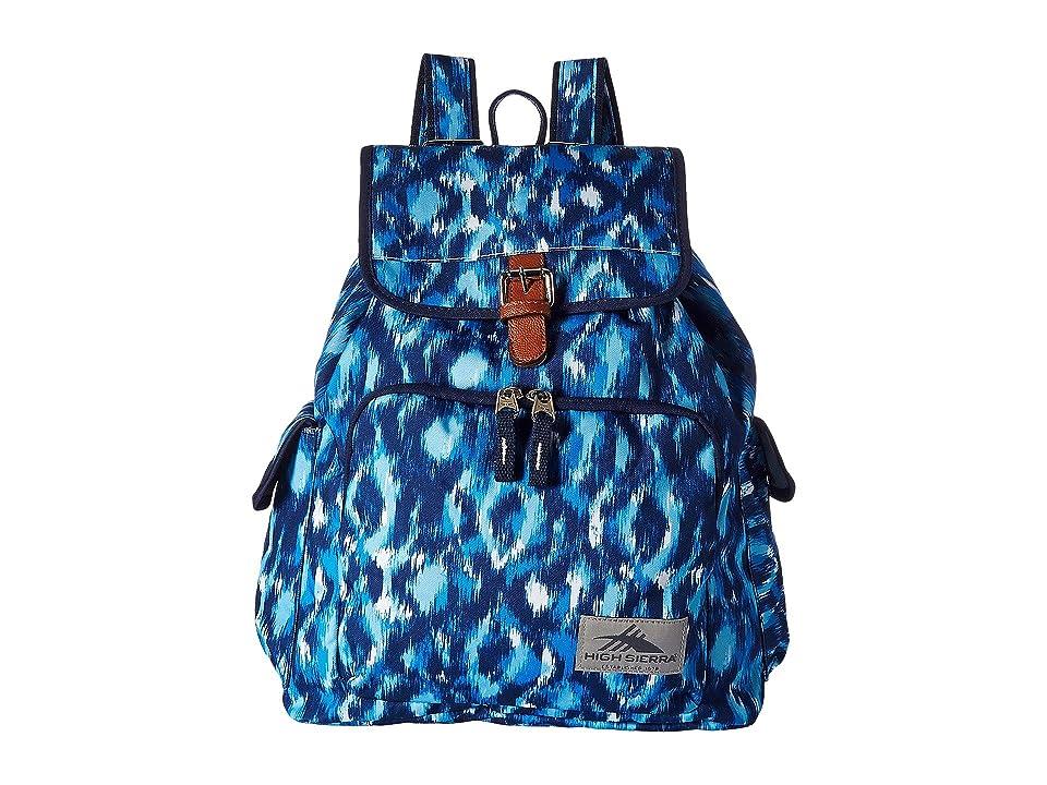 High Sierra Elly Backpack (Island Ikat/True Navy) Backpack Bags