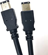 Micro Connectors, Inc. 6 feet Firewire IEEE 1394 6 Pin Male to 6 Pin Male Cable (E07-206)