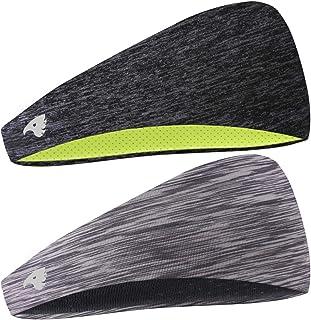 COOLOO Mens Headband, 2 Pack Guys Sweatband Sports...