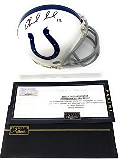 andrew luck mini helmet