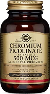 Solgar – Chromium Picolinate 500 mcg, 60 Vegetable Capsules