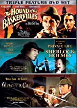 Sherlock Holmes Triple Feature DVD Set: The Hound of the Baskervilles, Billy Wilder's The Private Life of Sherlock Holmes, Without a Clue