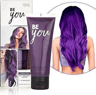 Semi-Permanent Purple Hair Dye - Vibrant 2.36 Oz. Tubes Temporary Hair Color - Ammonia and Peroxide Free -Vegan and 100% Cruelty-Free Toner - Lasts for 7-15 Shampoos - by Splashes and Spills