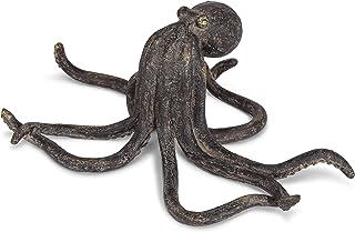 Abbott Collection 27-Kraken-FIG Standing Octopus-12 W, Antique Black