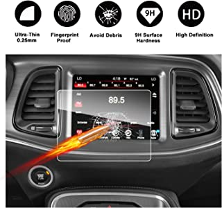 2011-2018 Dodge Charger Uconnect Touch Screen Car Display Navigation Screen Protector, RUIYA HD Clear Tempered Glass Car in-Dash Screen Protective Film (8.4-Inch)