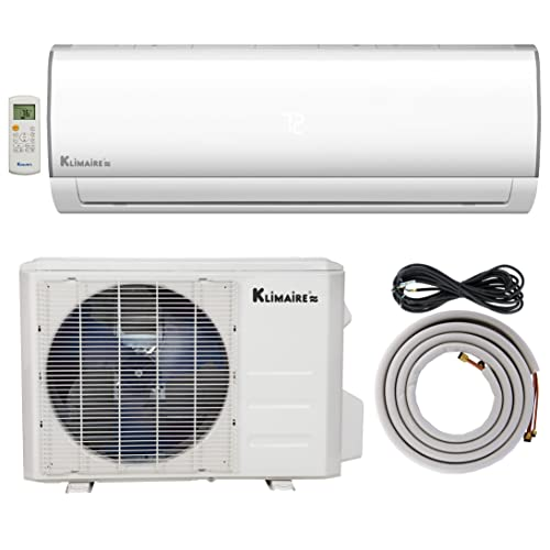 Klimaire 12,000 BTU 16 SEER Ductless Mini-Split Inverter Air Conditioner Heat Pump System with