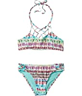 Hobie Kids - Do or Tie-Dye Macrame High Neck and Strappy Hipster Set (Big Kids)